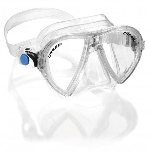 CRESSI OCEAN duikmasker 2 glazen duikbril (transparant)