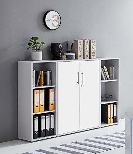moebel-dich-auf.de Schrankwand TABOR 2 Aktenschrank Büroschrank abschließbar in diversen Farbvarianten (lichtgrau/weiß matt)