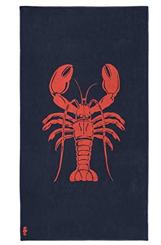 Seahorse Strandtuch Baumwolle Lobster Navy 100 x 180 cm