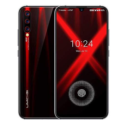 Unlocked Smartphones 2019, UMIDIGI X in-Screen Fingerprint Dual SIM 4G Budget Phone, 48MP Triple Camera 6.35'' AMOLED Full Screen 4150mAh NFC RAM 4G ROM 128GB Fast Charging