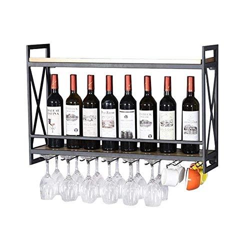 Estante de vino montado en la pared Soporte de vidrio para botellas Tienda de almacenamiento de corcho Rojo Blanco Champán Decoración de cocina para el hogar Almacenamiento en estante de almacenamie