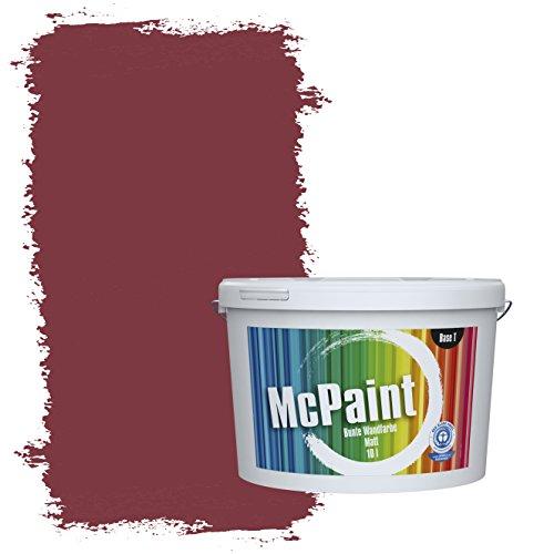 McPaint Bunte Wandfarbe Kirschrot - 10 Liter - Weitere Rote Farbtöne Erhältlich - Weitere Größen Verfügbar