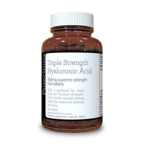 Hyaluronic Acid 300mg x 180 tablets (3 months supply). Triple Strength...