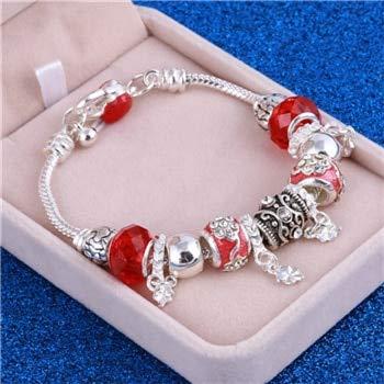 Antik Silber Charm Bracelet & Bangle mit Fisch Eule Kristall Aliexpress Murano Ball Frauen Perlen Armbänder Hochzeit Schmuck SL668A