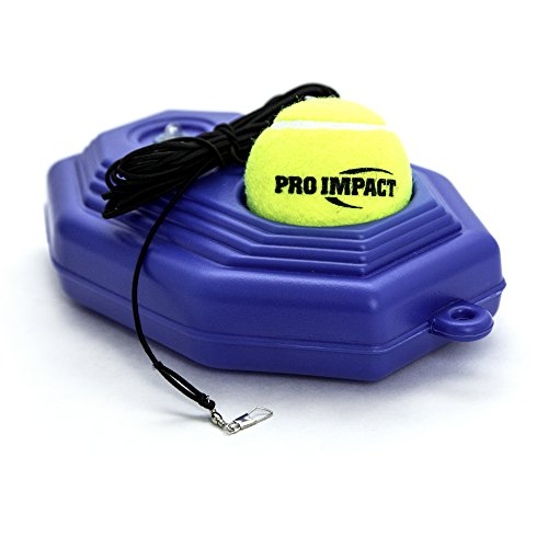 Pro Impact Tennis Trainer Rebounder Ball, Trainer Cemented Baseboard with Rope, Perfect Solo Tennis Trainer