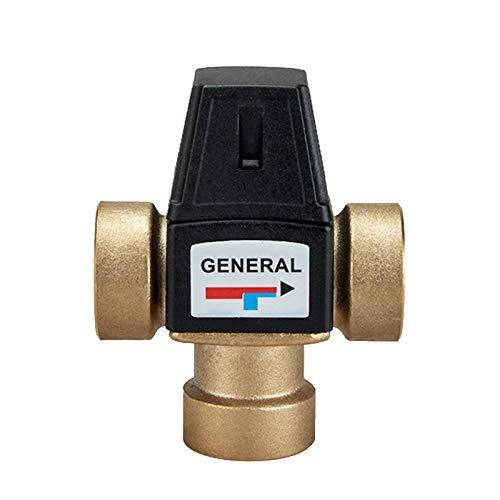 YAOYAN Thermostatisches Mischventil,Thermomischer Dusche Mischventil 3-Wege-Außengewinde Thermostat-Mischventil Badezimmerzubehör