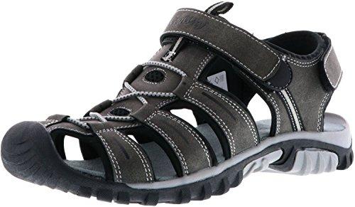 ConWay Damen Herren Trekkingsandalen Outdoorschuhe anthrazit/schwarz, Größe:46, Farbe:Anthrazit