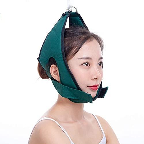Fisecnoo Kit de tracción cervical sobre la puerta, cuello de tracción, camilla adaptando quiropráctica masajeador relajación alivio del dolor ✅