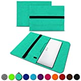 UC-Express Sleeve Hülle Trekstor Primebook P13 P14 P14B Tasche Filz Notebook Cover 14,1 Laptop Case, Farbe:Mint