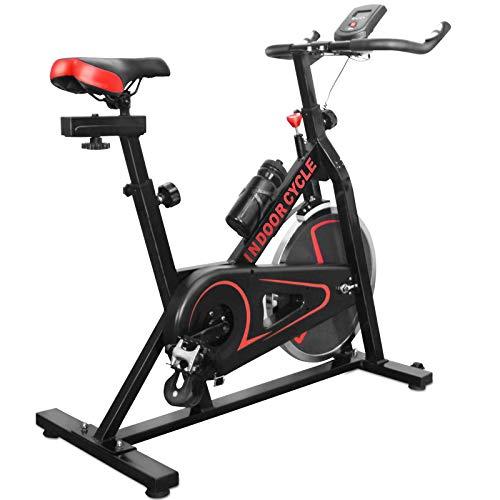 Physionics® Heimtrainer Fahrrad - mit Computer Display, Ergometer, 105x47x100 cm, max 120 kg, Sitz und Griff verstellbar - Fahrradtrainer, Fitnessbike, Hometrainer, Exercise Bike, Fitnessfahrrad