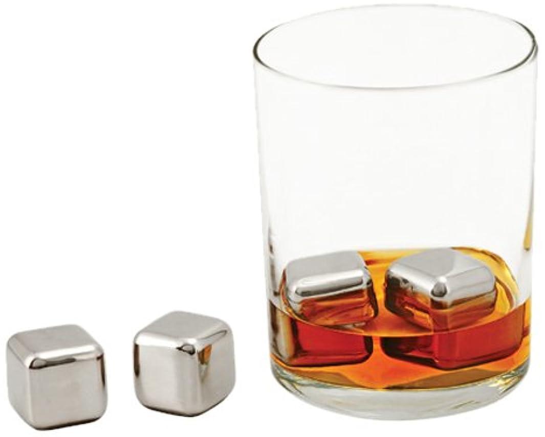 Viski 2539 True Fabrication Glacier Rocks - Small Stainless Steel Cubes, Set of 4,
