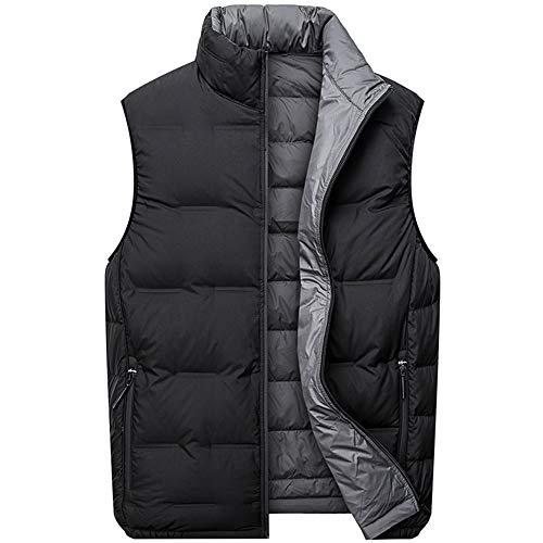 Oversized herenvest, warm en lichtgewicht vest, 90% grijze eend verweering meststof om de zachte en delicate waterdichte rits te verhogen