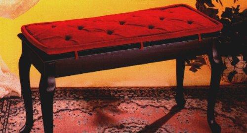 Piano Bench Pad, 14 Inch X 30 Inch, Black