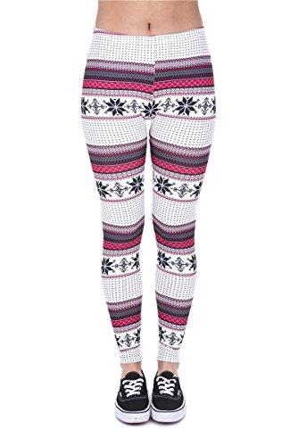 Hanessa damesleggings wit zwart roze bedrukte leggings broek lente zomer kleding patroon L8