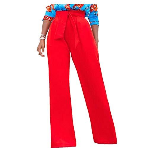 Spring Knitted Wide-Leg Pants Women's Women's High-Waist Straps Zipper Loose Casual Women's Pants Legging Red