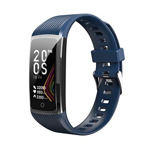 HEVÜY Bluetooth Smartwatch Fitness Schrittzähler, Herzfrequenzmesser, Bildschirm mit erhöhtem Handgelenk
