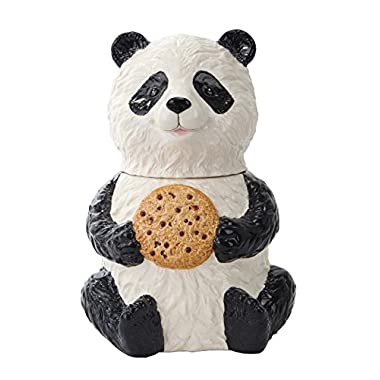 Pacific Trading Chinese Panda Cookie Jar Ceramic Cute Kitchen Accessory