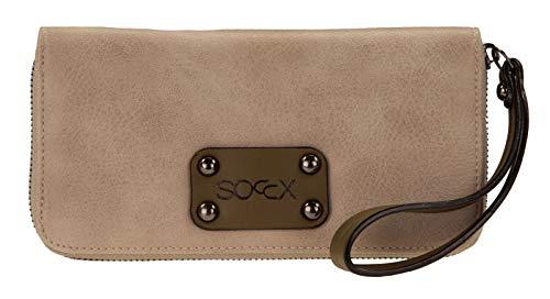 SOCCX Amelie Zip Around Wallet Sand