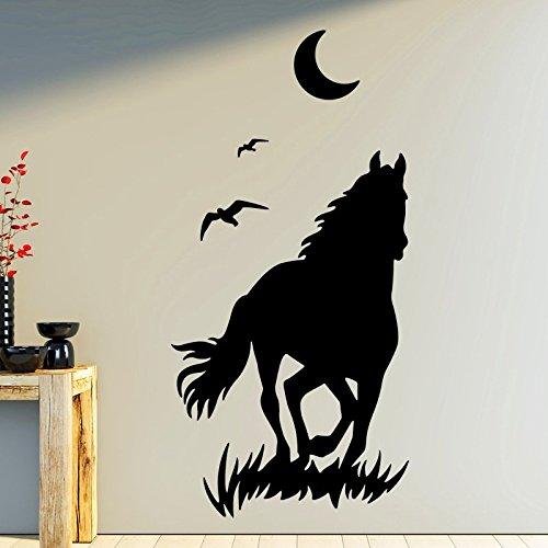 Ambiance-Live muursticker paard en maan