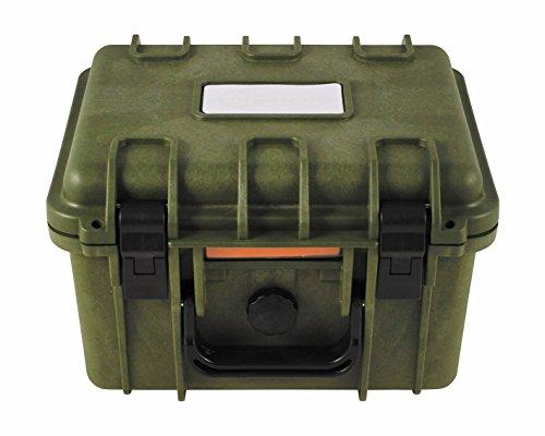 BigDean Box Kunststoff Wasserdicht Oliv Grün Kunststoffbox Extra Robuste Kiste Militärkiste Militärbox Armee Kiste 26,7x23,9x17,