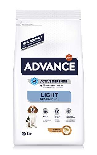 ADVANCE Light Adult Medium - Pienso Light Para Perros Adultos De Razas Medianas Con Pollo - 3 kg