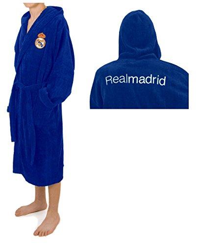 Real Madrid C.F. Albornoz Diamond de Algodón Terciopelo Oficial del Club, Talla M