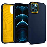 Caseology Nano Pop Hülle Kompatibel mit iPhone 12 Pro Kompatibel mit iPhone 12 - Navy