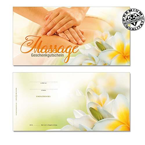 50 hochwertige Gutscheinkarten Geschenkgutscheine DIN-lang. Gutscheine für Massageinstitut. Massagegutschein. Vorderseite hochglänzend. MA9243