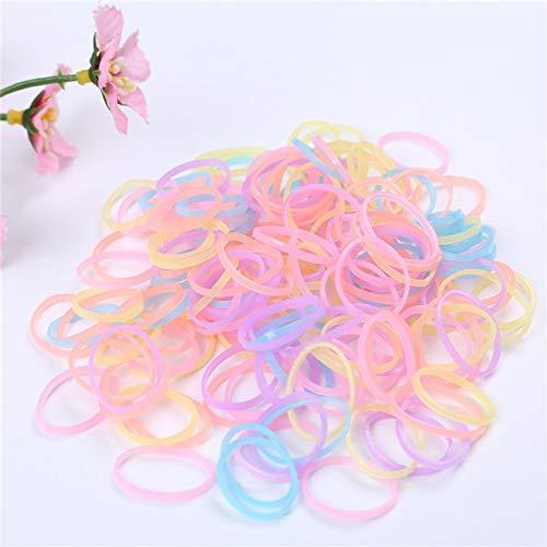 JSZWGC 1000pcs Filles Elastique Bandeaux bébé Accessoires Cheveux Mini jetable Queue de Cheval Titulaire Elastiques Gomme for Cheveux (Color : Colorful 3)