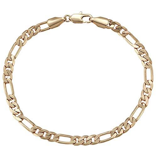 AT Jewellery - Pulsera de eslabones de oro de 18 quilates para hombre