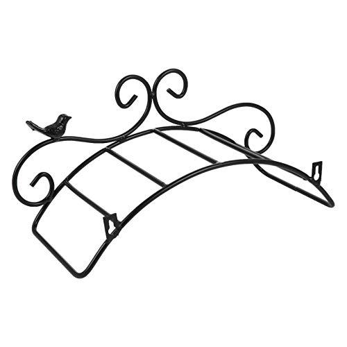 Angoily Soporte de Manguera de Jardín de Hierro Soporte de Manguera de Pared para El Exterior para Manguera de Jardín Tubería de Agua Y Almacenamiento de Manguera de Lavadora a Presión