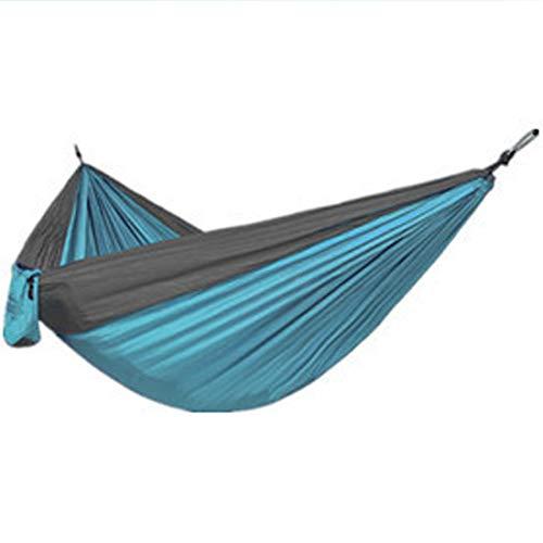 Wsaman Ultra-Light Travel Nylon Hammock, Portable Breathable Quick-drying Swing Bed Fit All Garden Outdoor Travel Hammock,light blue gray