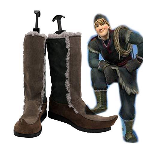 Disfraz de Cosplay de Kristoff para adultos, botas, zapatos personalizados, tamaño europeo 38