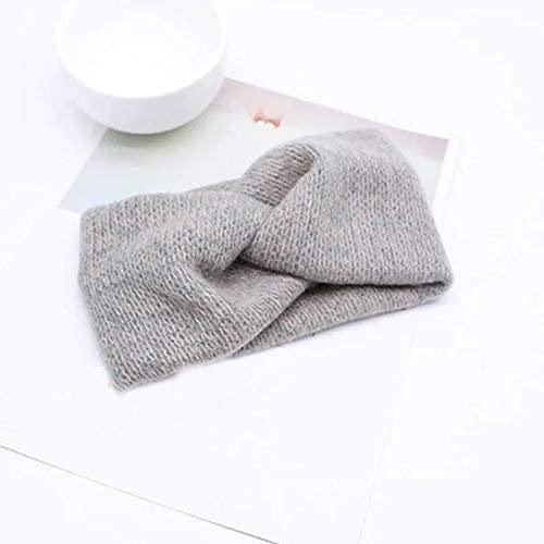 Kalagiri Hair Accessory Soft Knot Woolen Knit Warm Head Band Head Wrap Hairband Ear Warmer Hair Accessory For Winter
