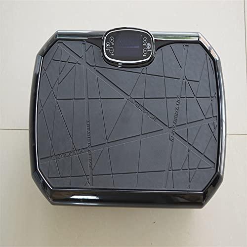 Vibrationsplatte 4D – Vibrationsplatte Testsieger 2020 Unterstützt Bluetooth-Verbindung, Widerstandsseil | Leicht Zu Bedienen | Magnetfeldtherapie Massage(Gr(Color:Schwarze Vibrationsplatte kraftvoll)