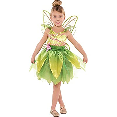 Suit Yourself Classic Tinker Bell Halloween Costume for Girls, Peter Pan, Small (4-6), Includes Dress and Wings