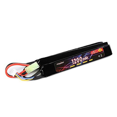FCONEGY Softair Akku 3S 11,1V 1200mAh 20C Stick Pack Lipo Batterie für Airsoft Waffen Gun Pistole