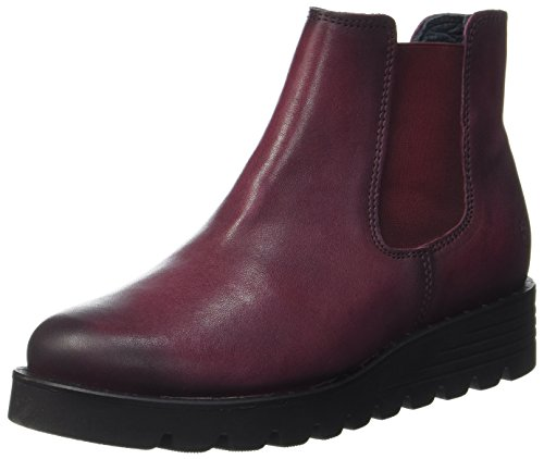 Apple of Eden Nanda, Chelsea Boots Femme, Rouge (Bordo 59), 40 EU