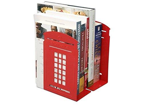 Nalmatoionme Estantería británica del quiosco de la cabina del teléfono de Londres del estilo de la manera retro