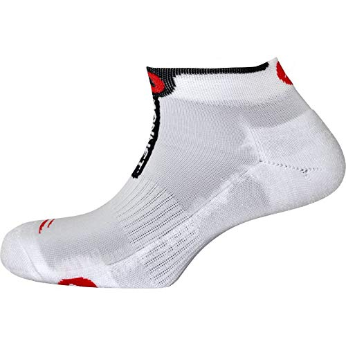 Monnet – Calcetines Run Perf, color blanco, tamaño 35/36