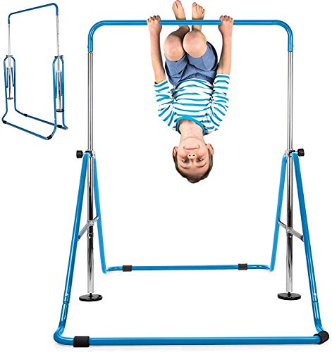 INTEY Gymnastics Bar for Kids, Gymnastics Training Bar, 4 Levels Height Adjustable Gymnastics Equipment for Home, Gift for Teens, Child, Boys, Girls