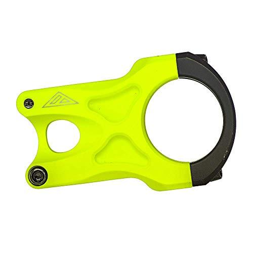 AZONIC | Potencia de Bicicleta | MTB Downhill Freeride Mountainbike BMX | Aluminio 6061-T6 mecanizado por CNC, diámetro de 34,9mm, Peso: 150g | La Potencia Rock Fat35 | Amarillo neón