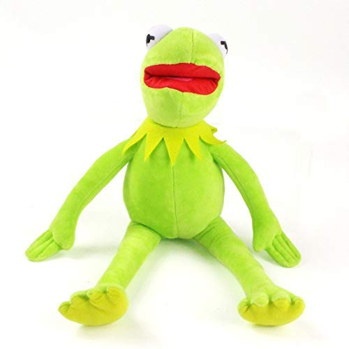 OELPAN Frosch Puppe Spielzeug Sesamstraße Kermit Frosch Kermit Komi Rana Puppe Spielzeug Kinder (Farbe: Green Ass angezeigt, Höhe: 43 cm) (Color : Green As Shown, Size : 43cm)