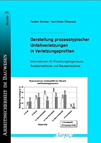 Darstellung prozesstypischer Unfallverletzungen in Verletzungsprofilen. Informationen für Forschungsingenieure und Arbeitsmediziner (Arbeitssicherheit im Bauwesen, Band 3)