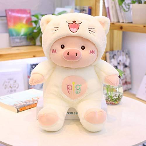 Juguete de peluche de cerdito de travestismo, animal de dibujos animados suave, gato/oso/perro, muñeco de peluche para niñas, regalos de San Valentín, 45 cm