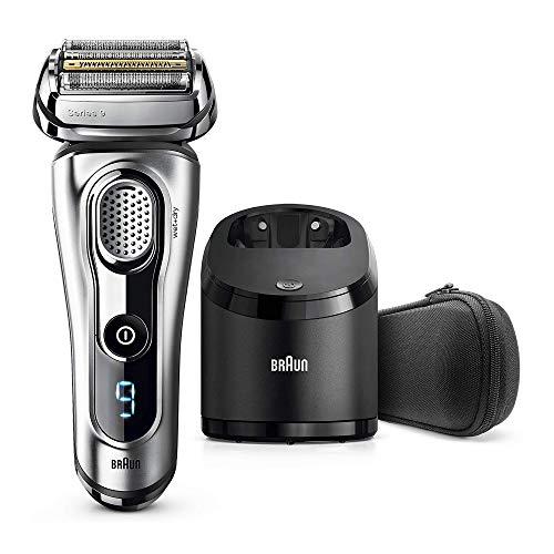 Braun Series 9 9292 cc - Afeitadora eléctrica hombre, para barba, en seco y mojado, recortadora de precisión integrada y recargable, Clean&Charge, Plata