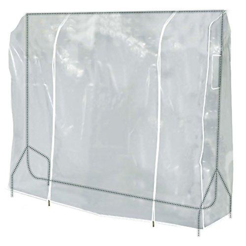 Hangerworld Cubierta 152cm para Perchero Funda para Burro Plástico Transparente Cremallera Protección