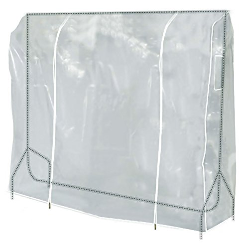 Hangerworld 5 ft (152cm) Transparent Clothes Garment Rail Cover with Strong Zipper and Document Pocket