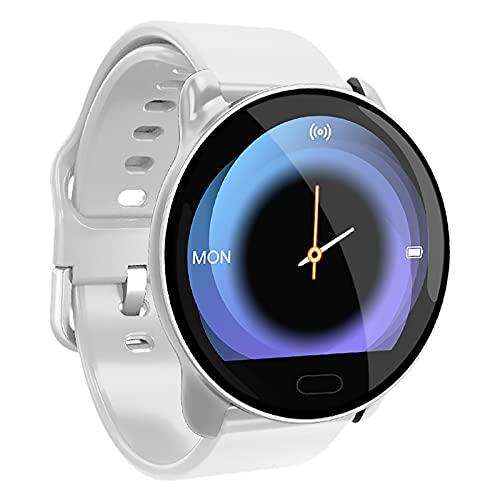 PDGWCK Reloj Multifunción Inteligente, Relojes de la Pulsera de la frecuencia cardíaca y de la presión Arterial, Reloj Deportivo, Reloj Deportivo al Aire Libre, Relojes par White