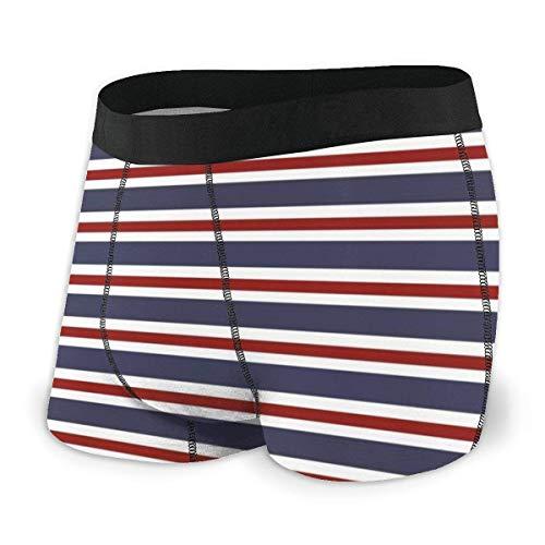 Adamitt Liang Carmine Stripe Calzoncillos Transpirables Ropa Interior Boxer Shorts para Hombres y niños